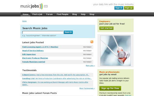 Access music-jobs.com using Hola Unblocker web proxy