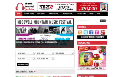 Access musicfestivaljunkies.com using Hola Unblocker web proxy