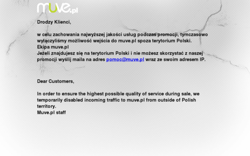 Access muve.pl using Hola Unblocker web proxy