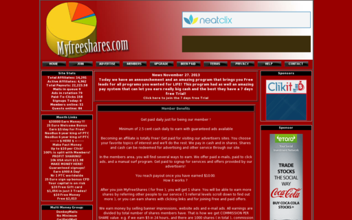 Access myfreeshares.com using Hola Unblocker web proxy