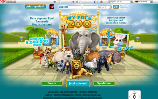 Access myfreezoo.de using Hola Unblocker web proxy
