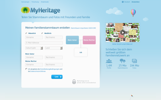 Access myheritage.de using Hola Unblocker web proxy