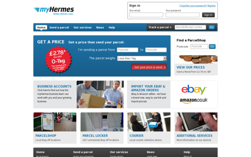 Access myhermes.co.uk using Hola Unblocker web proxy