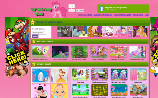 Access mylittlepony-games.com using Hola Unblocker web proxy