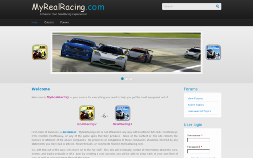 Access myrealracing.com using Hola Unblocker web proxy