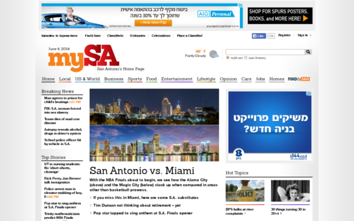 Access mysanantonio.com using Hola Unblocker web proxy