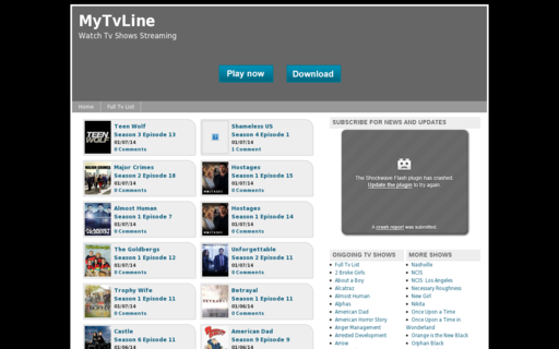 Access mytvline.com using Hola Unblocker web proxy