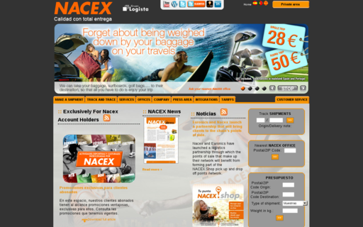 Access nacex.es using Hola Unblocker web proxy
