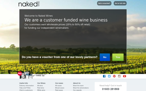 Access nakedwines.com using Hola Unblocker web proxy