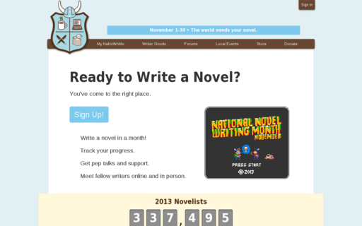 Access nanowrimo.org using Hola Unblocker web proxy