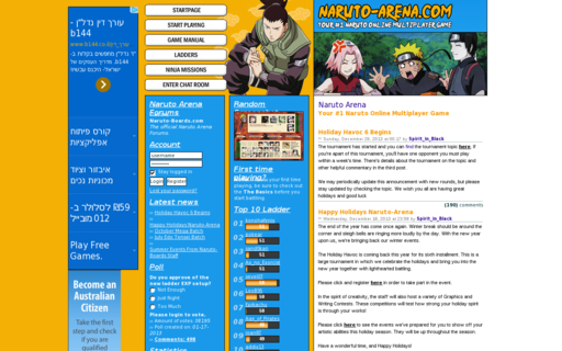 Access naruto-arena.com using Hola Unblocker web proxy