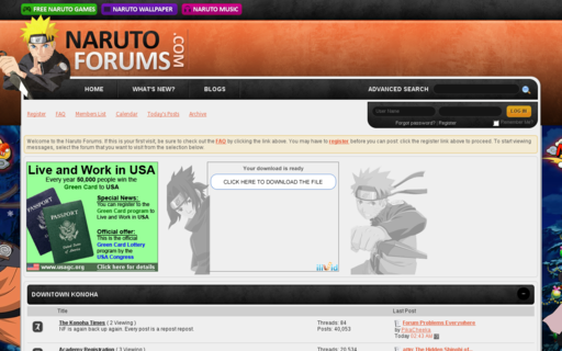 Access narutoforums.com using Hola Unblocker web proxy