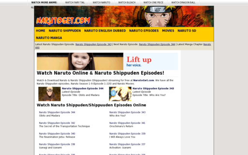 Access narutoget.com using Hola Unblocker web proxy