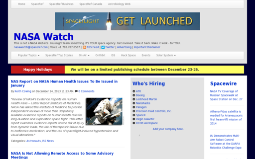 Access nasawatch.com using Hola Unblocker web proxy
