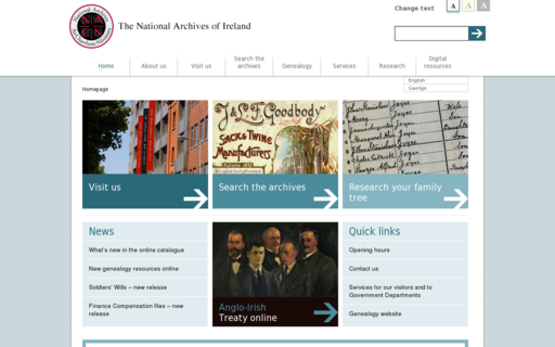 Access nationalarchives.ie using Hola Unblocker web proxy