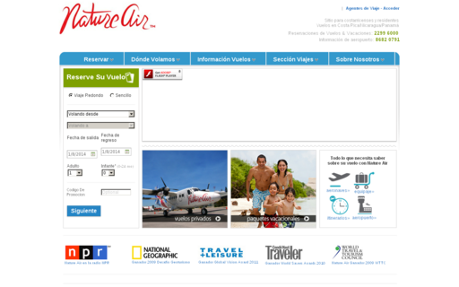 Access natureair.co.cr using Hola Unblocker web proxy