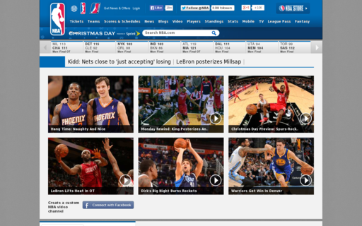 Access nba.com using Hola Unblocker web proxy