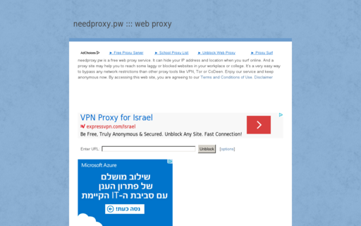 Access needproxy.pw using Hola Unblocker web proxy