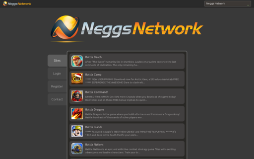 Access neggsnetwork.com using Hola Unblocker web proxy