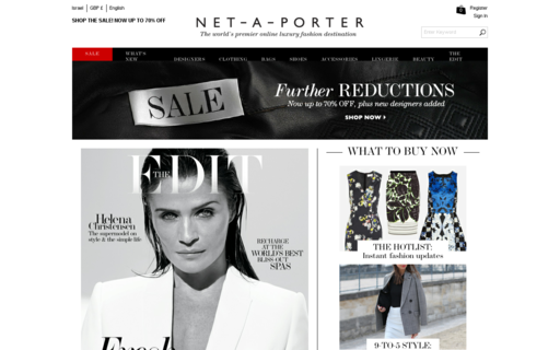 Access net-a-porter.com using Hola Unblocker web proxy