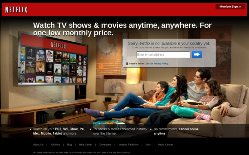 Access netflix.co.uk using Hola Unblocker web proxy