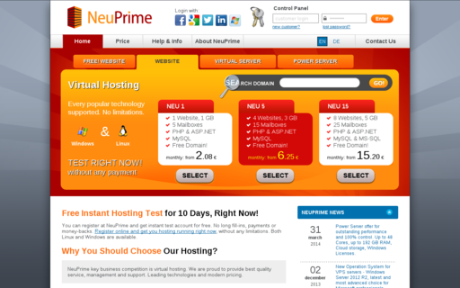 Access neuprime.com using Hola Unblocker web proxy