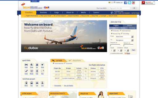 Access newdelhiairport.in using Hola Unblocker web proxy