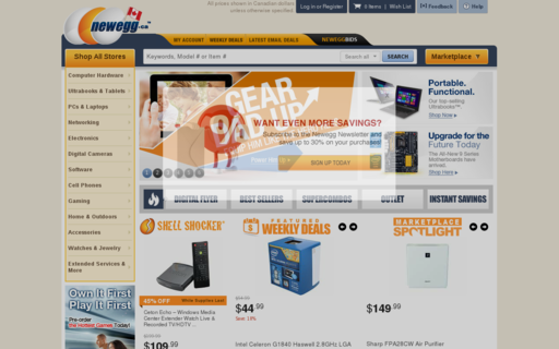 Access newegg.ca using Hola Unblocker web proxy