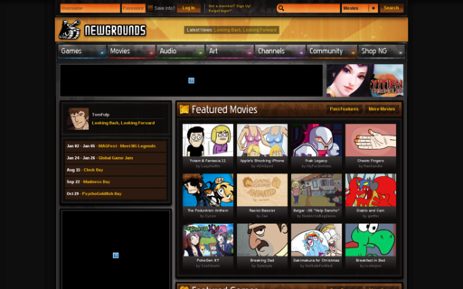Access newgrounds.com using Hola Unblocker web proxy