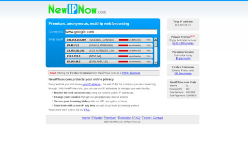 Access newipnow.com using Hola Unblocker web proxy