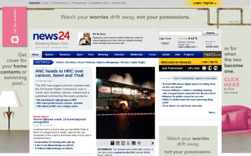 Access news24.com using Hola Unblocker web proxy
