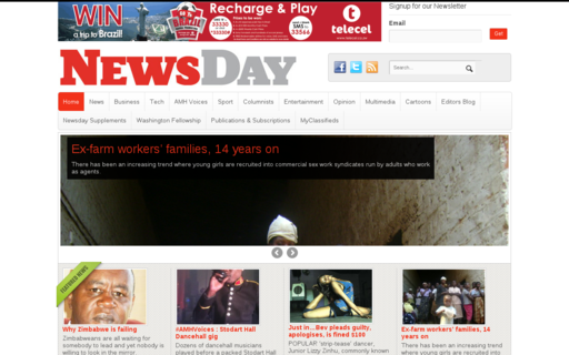 Access newsday.co.zw using Hola Unblocker web proxy