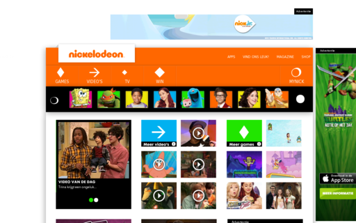 Access nickelodeon.nl using Hola Unblocker web proxy