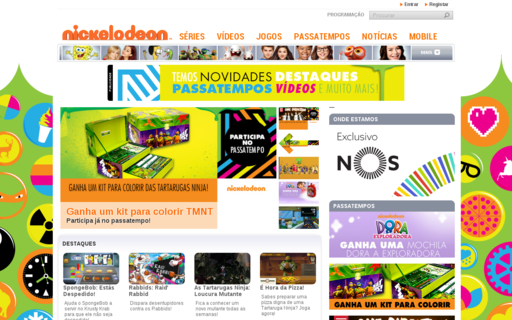 Access nickelodeon.pt using Hola Unblocker web proxy
