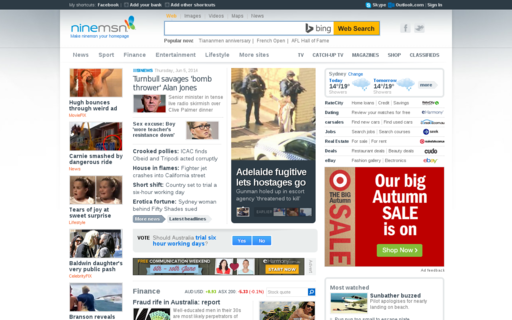 Access ninemsn.com.au using Hola Unblocker web proxy