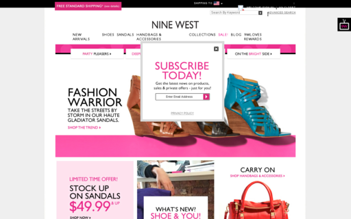 Access ninewest.com using Hola Unblocker web proxy