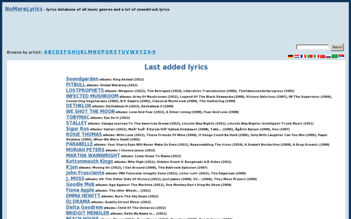 Access nomorelyrics.net using Hola Unblocker web proxy