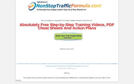Access nonstoptrafficformula.com using Hola Unblocker web proxy