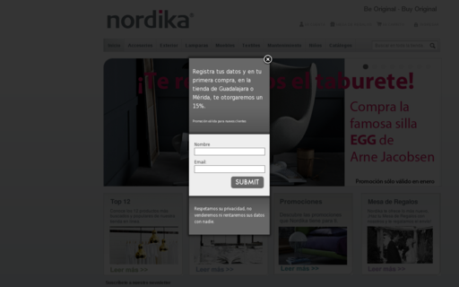 Access nordika.mx using Hola Unblocker web proxy