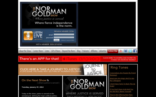 Access normangoldman.com using Hola Unblocker web proxy