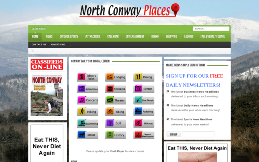 Access northconwayplaces.com using Hola Unblocker web proxy