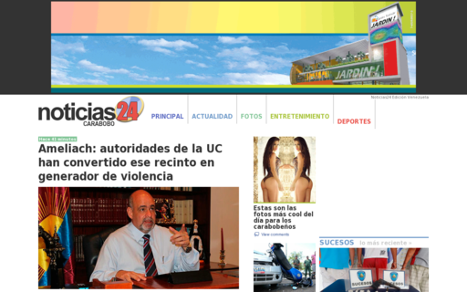 Access noticias24carabobo.com using Hola Unblocker web proxy