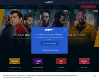Access nowtv.com using Hola Unblocker web proxy