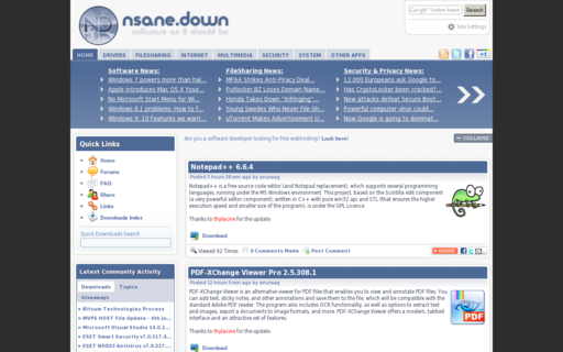 Access nsanedown.com using Hola Unblocker web proxy