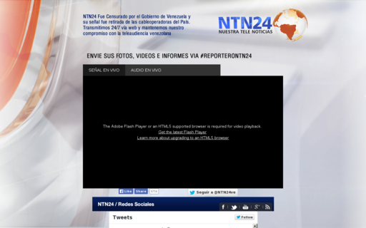 Access ntn24venezuela.com using Hola Unblocker web proxy