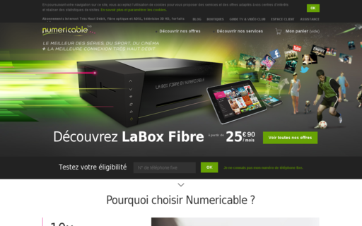 Access numericable.fr using Hola Unblocker web proxy
