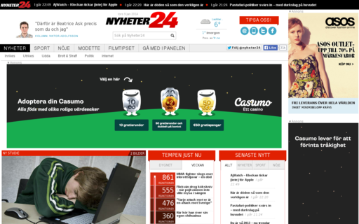 Access nyheter24.se using Hola Unblocker web proxy