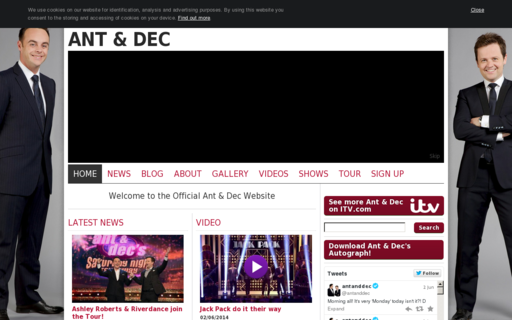 Access officialantanddec.com using Hola Unblocker web proxy