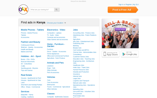 Access olx.co.ke using Hola Unblocker web proxy
