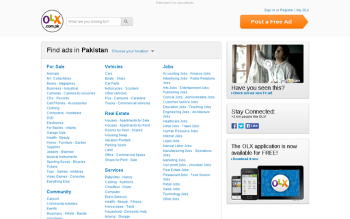 Access olx.com.pk using Hola Unblocker web proxy